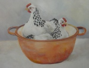 Kippen in de pan (Sold)